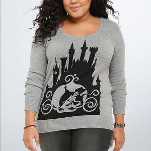 Torrid Disney Cinderella Sweater 2X 100% Cotton